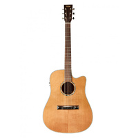TASMAN TA100-CE Cutaway Acoustic Electric Guitar