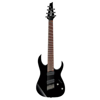 IBANEZ RGMS7 BK 7 String Multiscale Electric Guitar