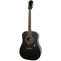 EPIPHONE DR100 Acoustic Guitar Ebony Finish