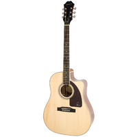 EPIPHONE AJ220SCE NA Acoustic Electric Guitar Natural Finish