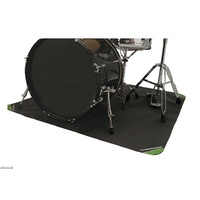 DRUMFIRE Drum Kit Rug Mat 4x4 ft