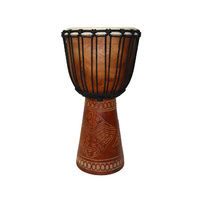 DJEMBE 50cm Carved Wood Drum C
