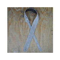 COLONIAL LEATHER Grey Double Suede Guitar Strap