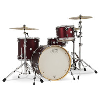 DW Design Series 4pce Ltd Ed. Satin Crimson Metallic Shell Drum Kit