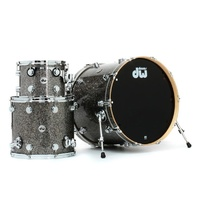 DW Collectors Series 3 Pce Finish Ply Black Galaxy Drum Kit
