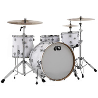 DW Collectors Finish Ply 4 Pce White Glass Drum Kit