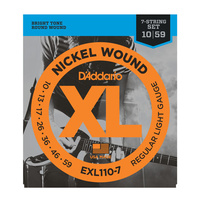 D'Addario Nickel Wound Electric 7 String Set 10-56