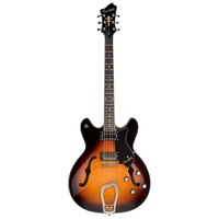 HAGSTROM Viking Semi Hollow Tobacco Sunburst Electric Guitar