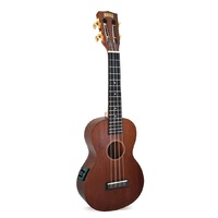 MAHALO MJ2VTTBR Transparent Brown Concert Electric Acoustic Ukulele