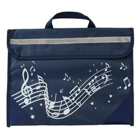 Musicwear Wavy Stave Music Satchel/School Bag - Navy Blue