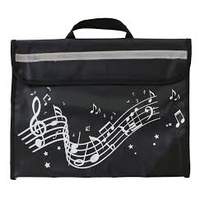 Musicwear Wavy Stave Music Satchel/School Bag - Black