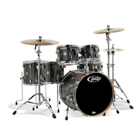 PDP Concept Maple 6 Pce Black Sparkle Drum Kit