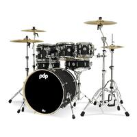 PDP Concept Maple 7 Pce Satin Black Drum Kit