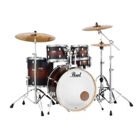 PEARL DECADE Maple 6 Pce Satin Brown Burst Fusion Plus Drum Kit