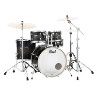 PEARL DECADE Maple 5 Pce Satin Black Burst Fusion Plus Drum Kit