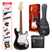 SX Electric 3/4 Guitar Pack Black