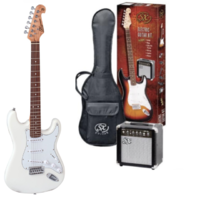 SX Electric Guitar Pack White