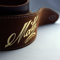 MATON Standard Leather Guitar Strap Brown