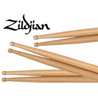 ZILDJIAN 5B Hickory Wood Tip Sticks