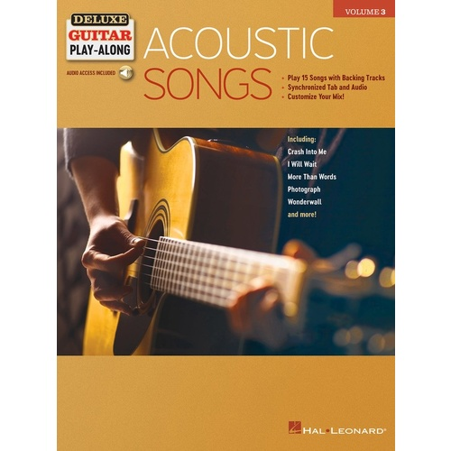 Acoustic Songs Deluxe Guitar Play-Along Volume 3
