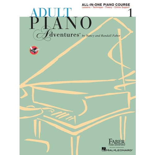Piano Adventures Adult All-In-One Lesson Book 1