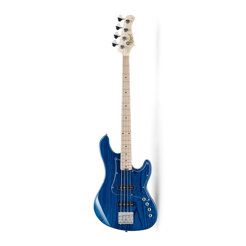 CORT GB74JJ Trans Blue Bass Guitar