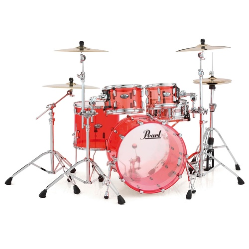 PEARL CRYSTAL BEAT 4pce Ruby Red Shell Drum Kit
