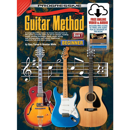 Progressive Guitar Method Beginner Book 1 with Online Media
