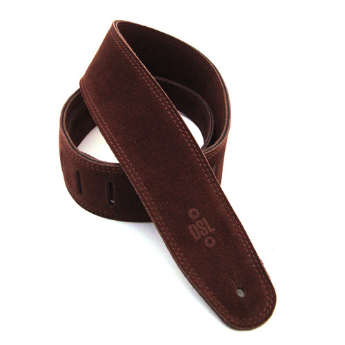 DSL 2.5 Inch Triple Ply Brown Leather Guitar Strap